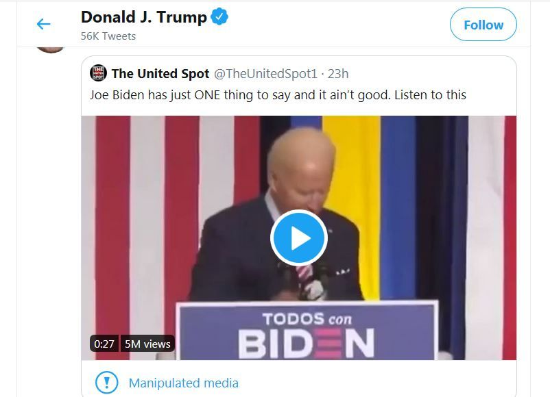 Twitter @realDonaldTrump