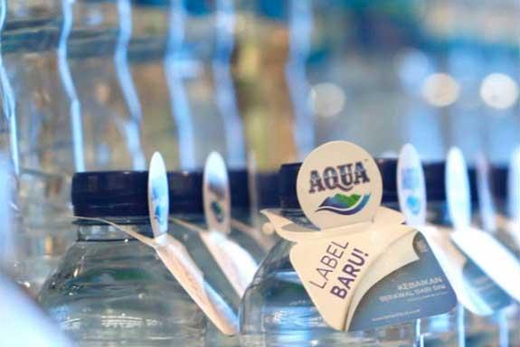 Dok. Danone-Aqua Label baru air minum Danone-Aqua