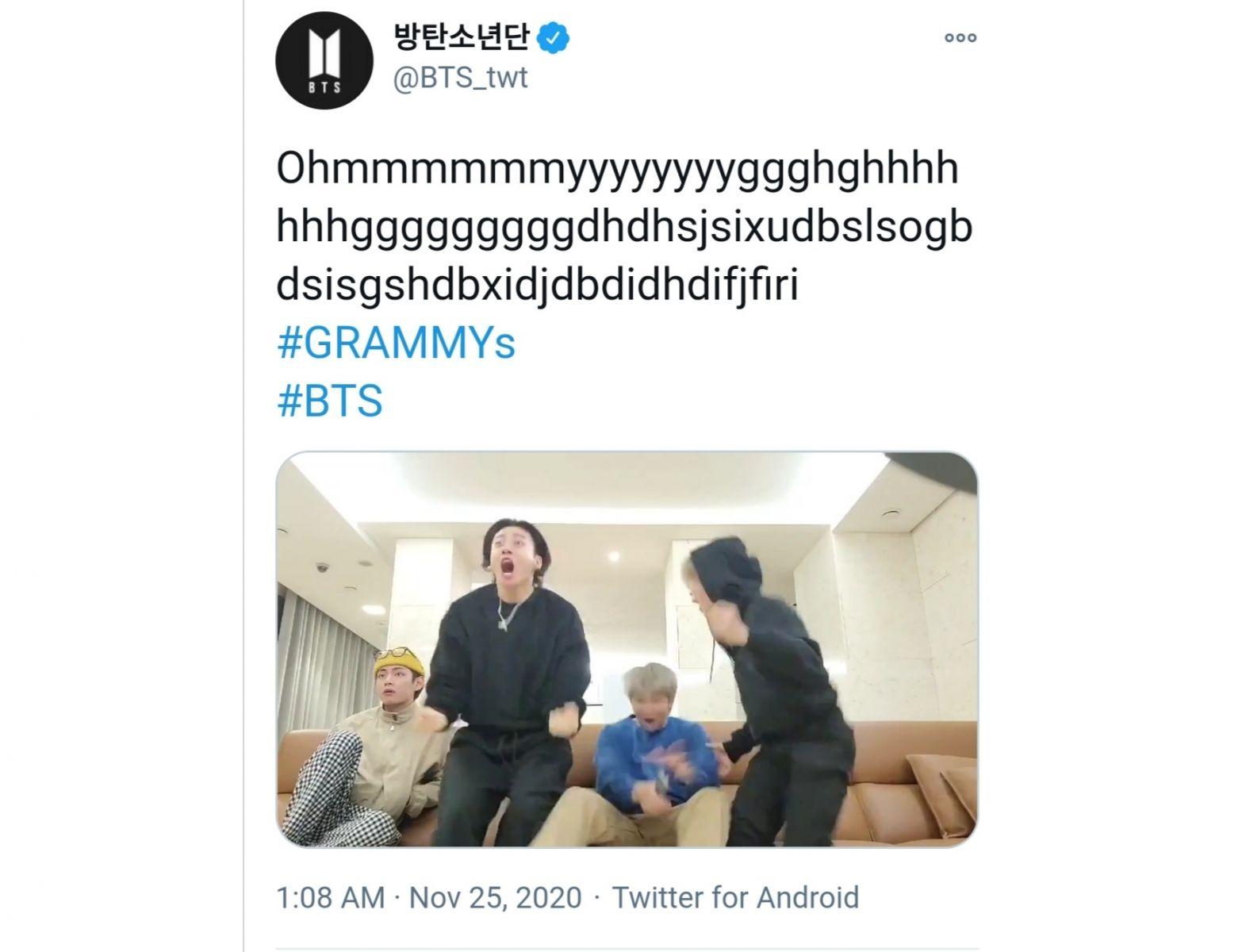 Jadi Nomine Grammy 2021 Begini Reaksi Bts