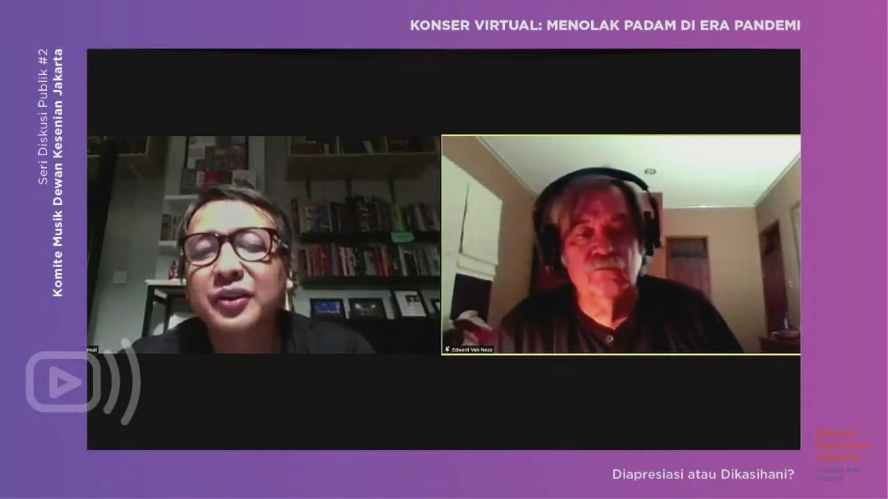 MI/ Tangkapan layar diskusi publik virtual Komite Musik Dewan Kesenian Jakarta (DKJ), Selasa (1/12) malam.
