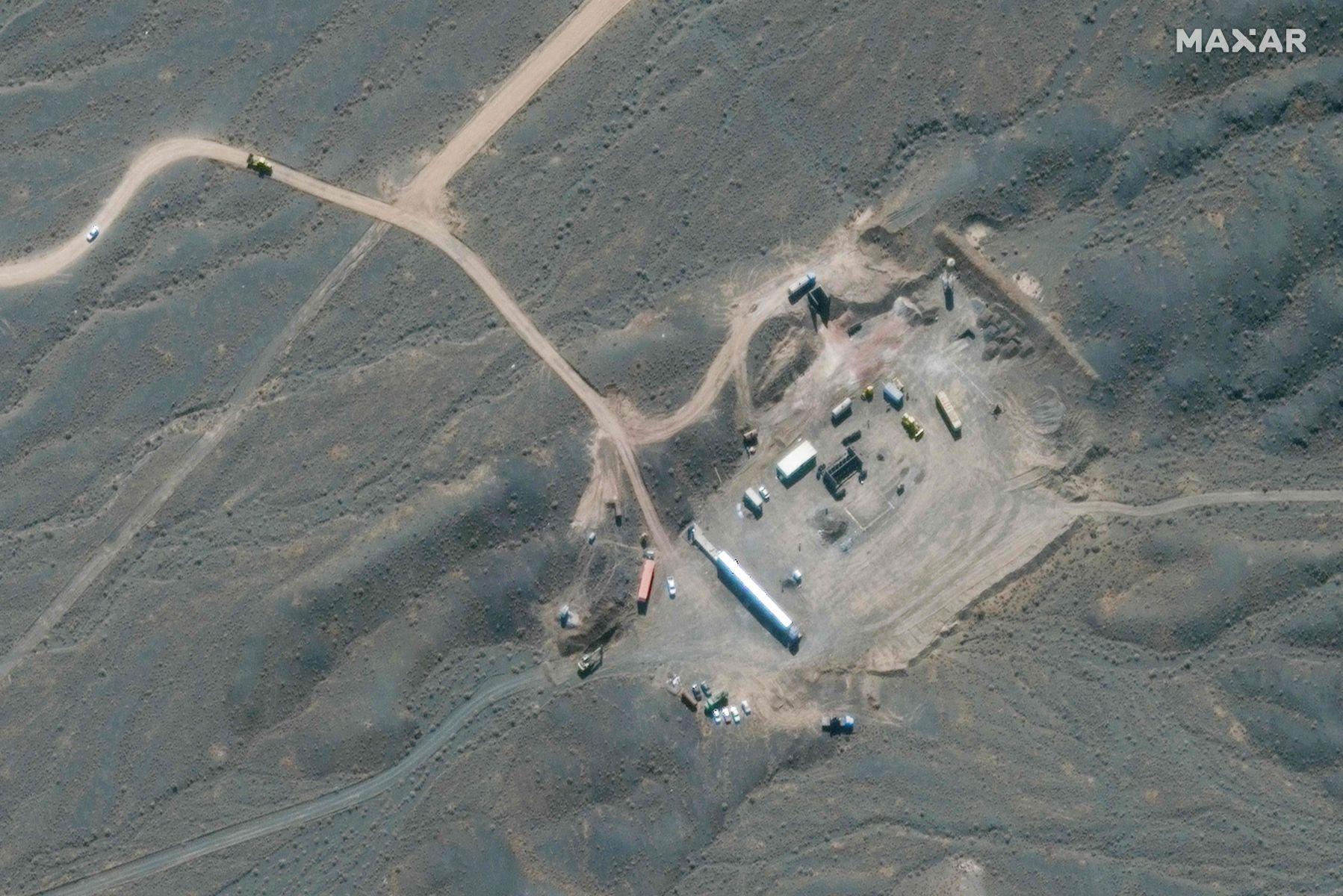 Satellite image ©2021 Maxar Technologies / AFP