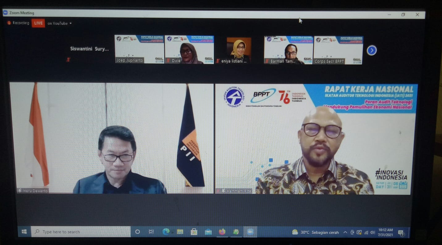 Tangkapan layar raker Ikatan Auditor Teknologi Indonesia