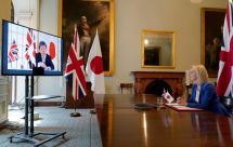 Andrew PARSONS / 10 Downing Street / AFP